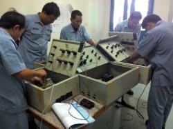 Merakit Panel Kontrol Motor Motor 3 phase. Peserta dari I.H.I